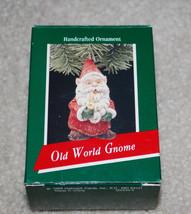 Hallmark Keepsake Ornament Old World Gnome Handcrafted 1989 Christmas Sa... - $14.80