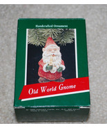 Hallmark Keepsake Ornament Old World Gnome Handcrafted 1989 Christmas Sa... - $14.80