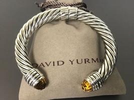 David Yurman Sterling Silver CITRINE 10MM Cable Bracelet - $499.99