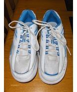 Avon Curves Tennis Shoes Womens Size 8.5 White and Blue Toning Walking S... - $19.97