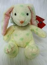 "5"" Russ Jellybean Rabbit 27723 Yellow Green Polka Dot Easter Plush Toy B200 - $14.97"