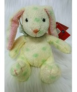 "5"" Russ Jellybean Rabbit 27723 Yellow Green Polka Dot Easter Plush Toy B200 - $14.97"