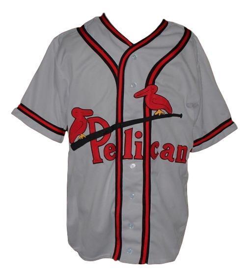 Custom name   new orleans pelicans baseball jersey grey  1
