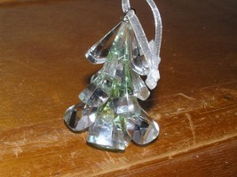 Estate Light Green Faceted Crystal Glass Christmas Tree Ornament – 2.5 x 1 - $18.49