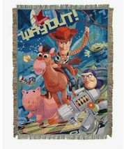 Disney Pixar Toy Story Way Out Throw Tapestry Blanket - $36.58