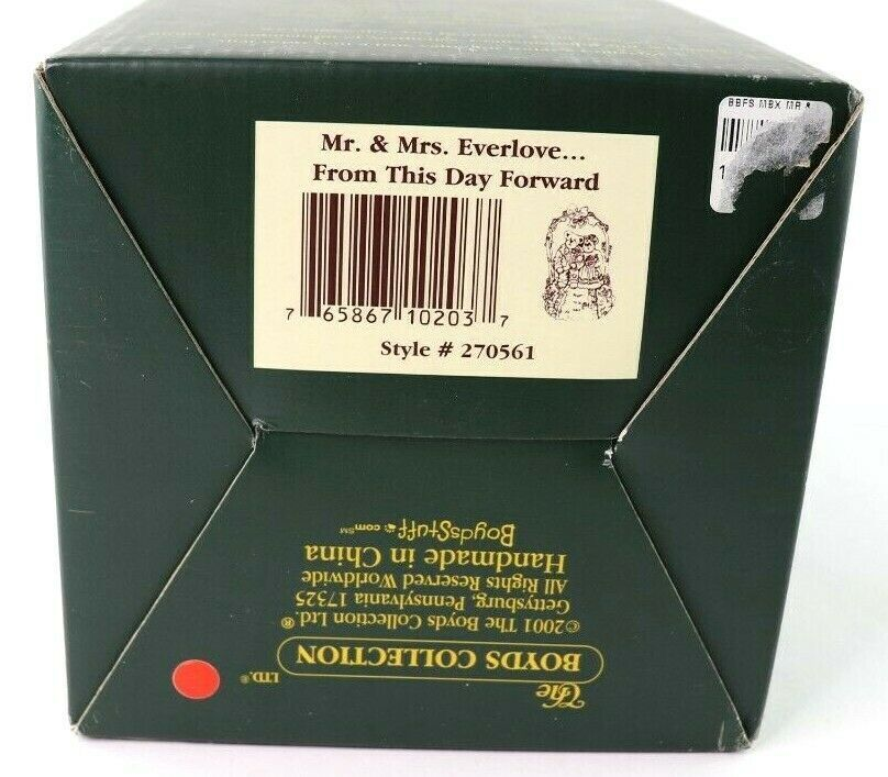 "Boyds Bearstone Collection ""Mr and Mrs. Everlove"" Music Box 1E/3641 #270561 New image 7"