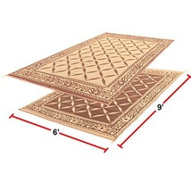 EasyGO Products Rv Camping Mats - 6' x 9' Outdoor Patio Mat - Reversible... - $32.11
