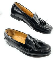 Cole Haan Men's 03506 Pinch Tassel Loafer Shoes Black Leather Size 11D - $29.69