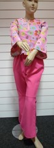 Girls 60's / 70's Costume - Pink Daisy Flower Power top & Flares -  , ag... - $20.66