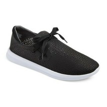 New! Women's Raelee Laser Cut Lace-Up Black Sneakers - Mossimo Supply Co