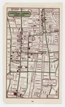 1951 ORIGINAL VINTAGE MAP OF MONTREAL QUEBEC DOWNTOWN BUSINESS CENTER - $13.86