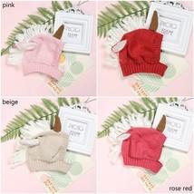 Knitted Hat Crochet Cartoon Baby Unicorn Cap Winter Warm Hat Hooded Knit... - $7.43
