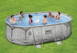 """Coleman Power Steel 16' x 10' x 48"""" Oval Above Ground Pool Set - Ready to Ship image 1"""