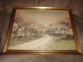 Wallace Nutting Hand Colored Print Country Road Borin Art Products Corp ... - $89.10