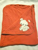 Gymboree Bear-y New Baby Blanket Coral Gold Polka Dot White Bear - $34.63