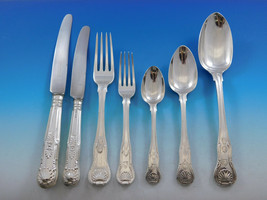 Kings English Sterling Silver Flatware Set for 12 Service 85 Pieces Dinner - $10,500.00
