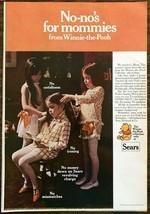 1969 Sears Winnie the Pooh Clothes Collection Print Ad Georgia Peach Dre... - $10.89
