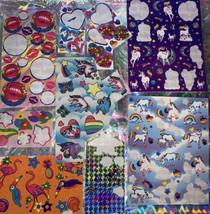 Vintage Lisa Frank Partial Rare & HTF MARKIE UNICORN Sticker Sheets & MORE