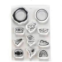 Seal Embellishments Stamp Set. Elizabeth Craft Design. Chic Art Journal