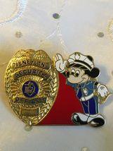 Vintage Disney Pin Castmember Mickey Security Officer Shield Dlr Disneyland Rare - $91.85