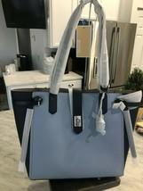 Michael Kors Cassie Colorblock Lg Shoulder Tote Pebbled Leather $398 Nav... - $89.09