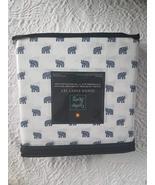Cynthia Rowley Navy Elephants on White Microfiber Sheet Set Queen - $42.00