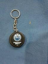 Edmonton Oilers Hockey Puck Key Chain Nhl Collectors Key Chain Oilers - $9.45
