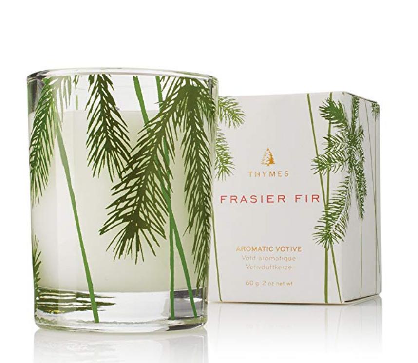 Thymes Fraiser Fir Aromatic Paraffin Wax Sandalwood Votive Candle 2 oz 1 Pack