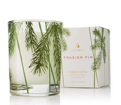 Thymes Fraiser Fir Aromatic Paraffin Wax Sandalwood Votive Candle 2 oz 1 Pack