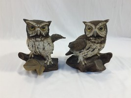 Vintage Pair of Ceramic Owl Figurines Homco Taiwan - $9.99