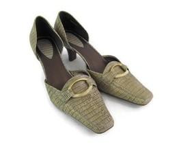 Liz Claiborne Flex Women Size 8.5 M Tan Lizard Print Heels  Dress Shoe - $21.57