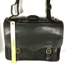 Santa Fe Dilana Vintage Dark Brown Leather Briefcase Laptop Bag – Distressed image 3