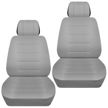 Front set car seat covers fits Chevy Spark  2013-2020  solid silver - $65.09+