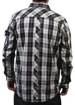 LRG Mens Off White Black Sicker Than Most Long Sleeve Woven Button Up Down Shirt image 2