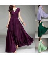 Women's Fashion Bohemian Maxi Dress Long Evening Dress V neck Sleeveless... - $23.00