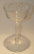 VNTG SET 3 CRYSTAL SHERBET CUPS CHAMPAGNE GLASSES HAND CUT PATTERN STAR ... - $29.99