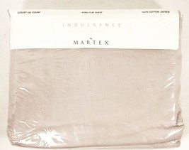Vintage NOS Martex King Flat Sheet Sealed 230 Thread Petal Color Sateen - $33.65