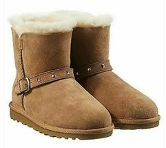 Kirkland Signature Kids Chestnut Australian Sheep Shearling Buckle Winter Boots image 1