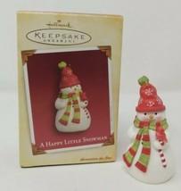 2005 Hallmark Keepsake Ornament A Happy Little Snowman Artist Favorite N... - $14.82