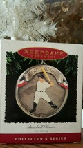 New Mib Hallmark 1995 Lou Gehrig Baseball Heroes Ornament 2ND In Series - $3.99