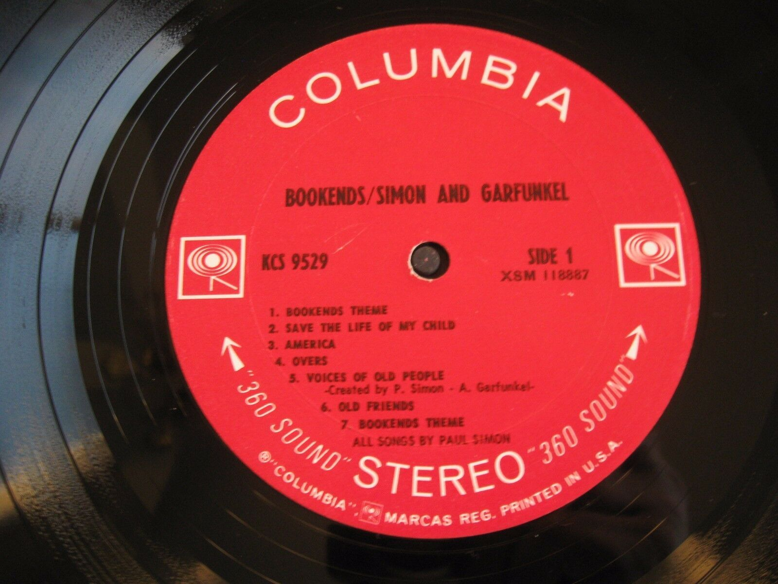 Simon & Garfunkel Bookends Columbia KCS 9529 Stereo 1A First Pressing image 4