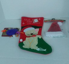 Pet Stocking with Toy and Hat for a CAT - $17.42