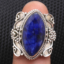 Designer Blue Sapphire Ring 925 Sterling silver Handmade Jewelry Size us 9 - $15.99