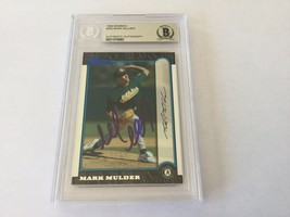 Mark Mulder Signed Autographed Card Slabbed Encapsulated Beckett BAS COA d - $74.24