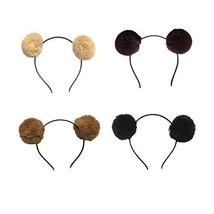 Pom Pom Headband Head Hoop Animal Cute Fluffy Hairband for Kids Girls Bo... - $11.51