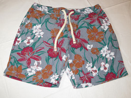 """Men's Tommy Hilfiger S small shorts 78B0924 907 floral print 7"""" inseam c... - $48.25"""
