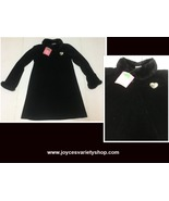 Camp Beverly Hills Black Sparkly Dress Sz 10/12 Faux Fur Trim - $12.99