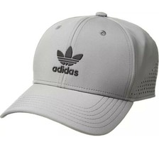 Adidas Originals Tech Mesh Snapback Baseball Cap Grey Trefoil Logo Adult... - €22,84 EUR