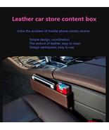 Leather car seat crevice storage box multi-purpose auto gap organizers - $49.95