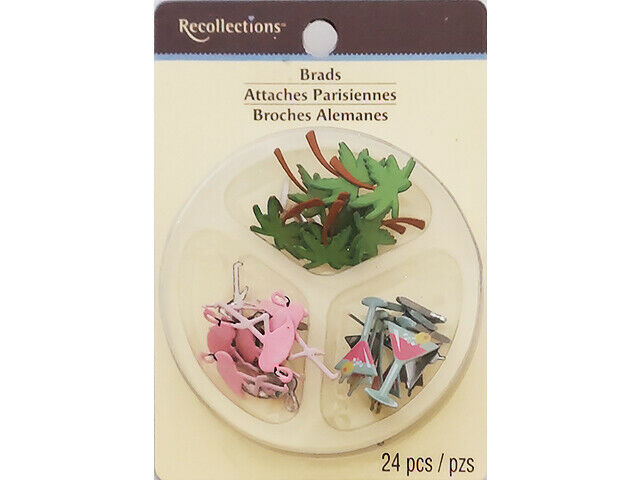 Recollections Tropical Brads, 24 Pieces #146286